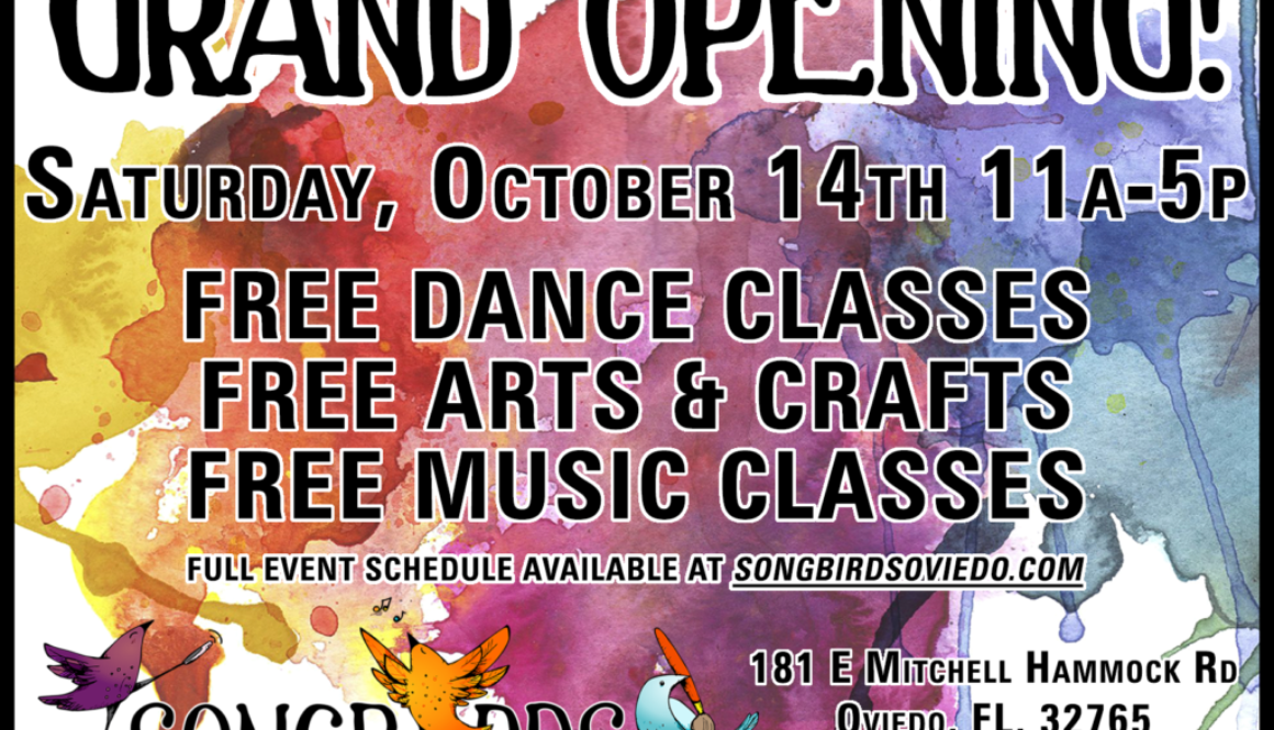 grand opening for songbirds music, art, & dance center