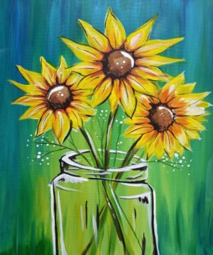 Adults Paint Sunflowers- May 28th 6-8p ($28/ artist)
