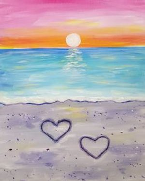 Kids Paint a Simple Sunset- May 27th 6-7:30p ($15/ artist)