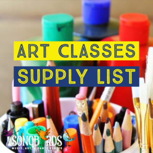 Art Classes Supply List