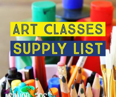 Art Classes Supply List