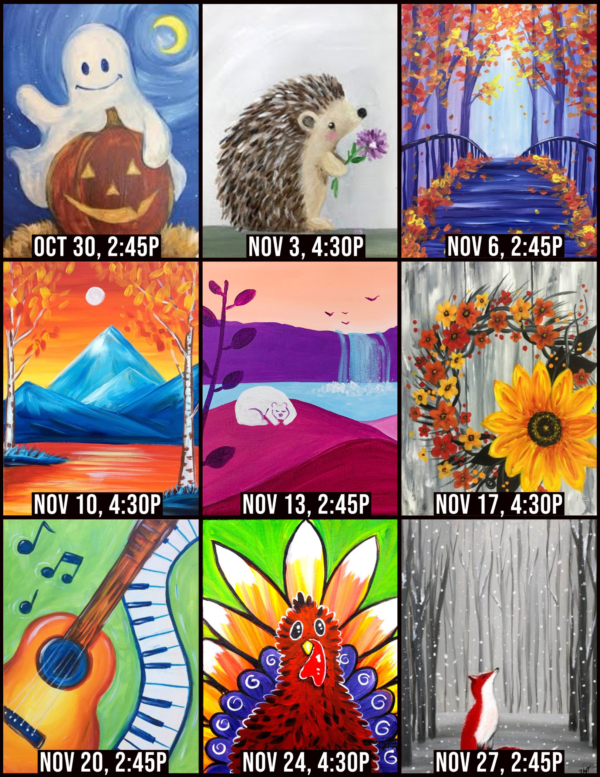 Nov Virtual Paint Parties