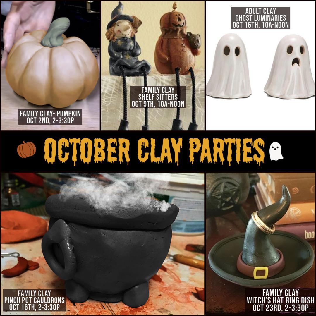October Clay Parties